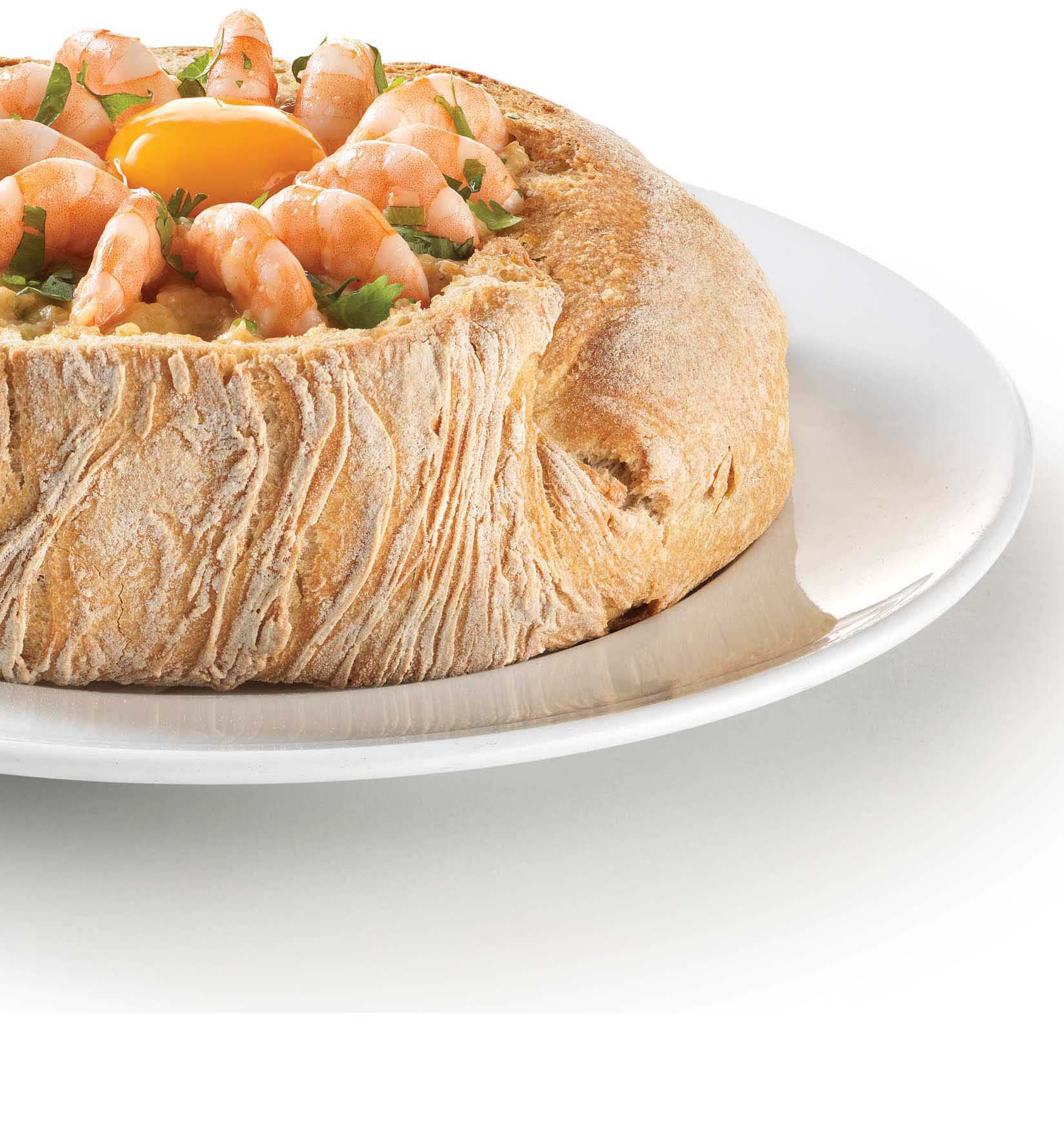 bread and prawn stew